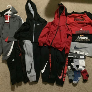 Nike, Puma Hoodie and pants sets